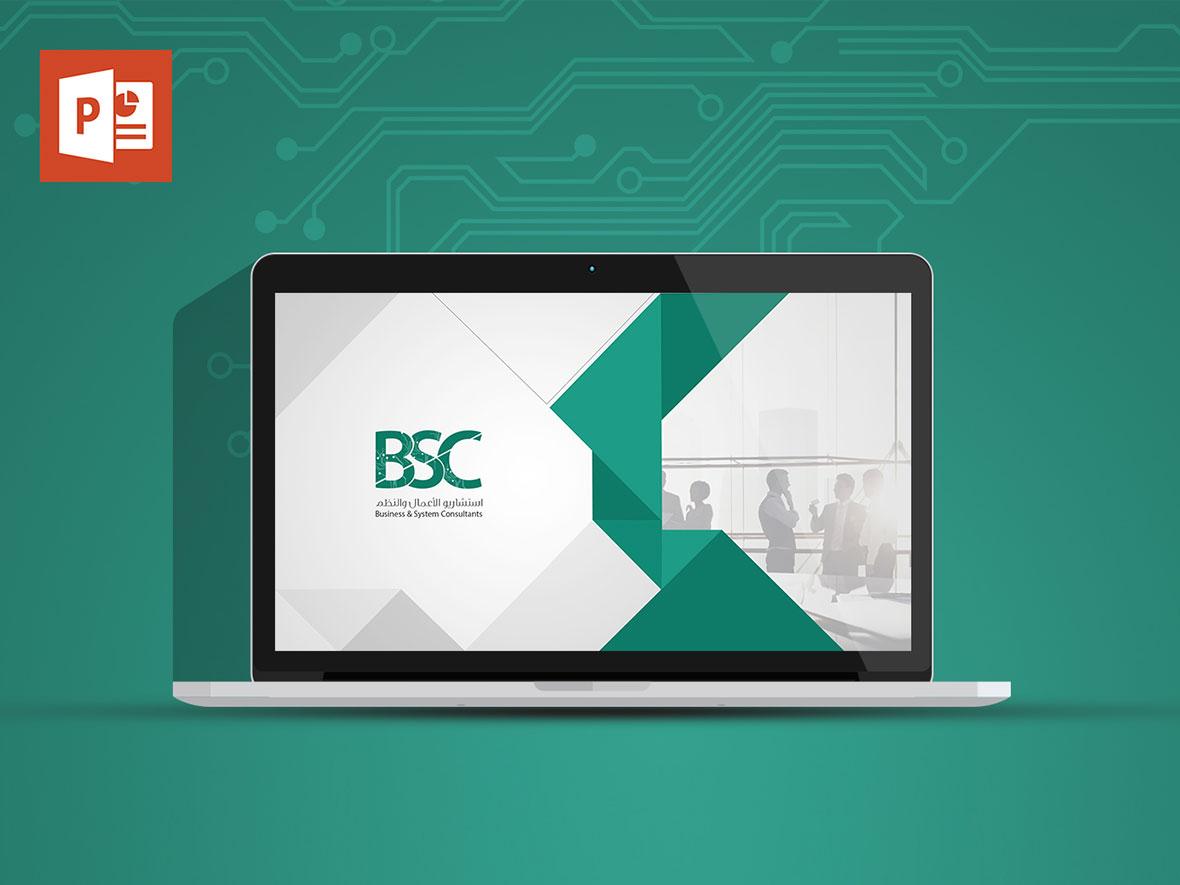تصميم الهوية البصرية لBSC