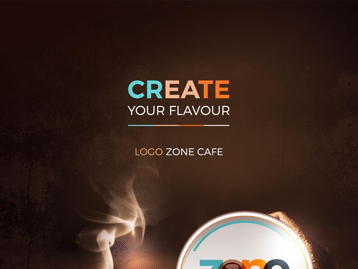 تصميم الشعار لـ Zone Cafe