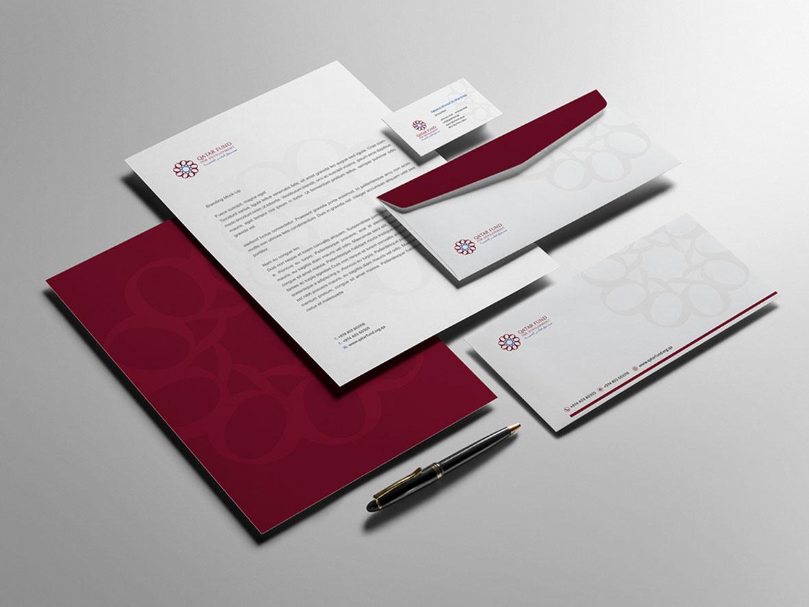تصميم الهوية البصرية لصندوق قطر للتنمية