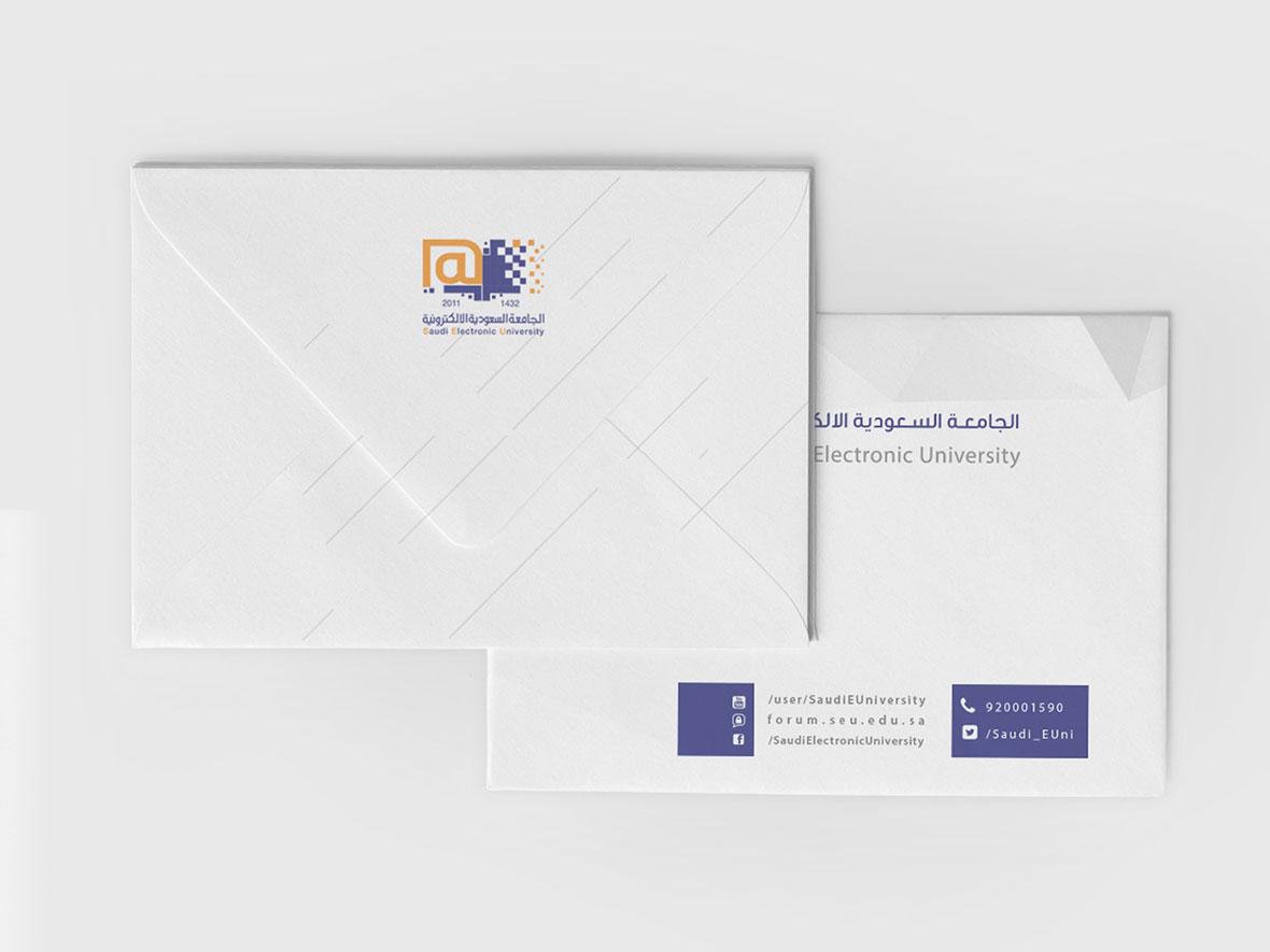 تصميم الهوية البصرية للجامعة السعودية الإلكترونية