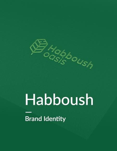 تصميم الهوية البصرية لشركة حبوش