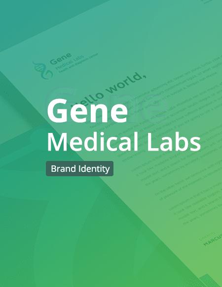تصميم الهوية البصرية لمختبرات جين الطبية